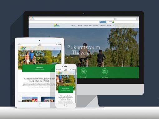 Website Zukunftsraum Thayaland